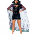Sku A2891   Preorder 2 PC Glitter flame cape and horn headband.