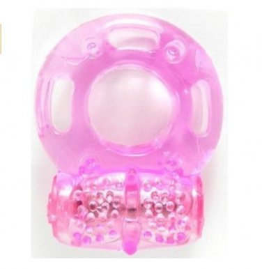Pink Vibrating Cock Ring Erection Jelly Penis CockRing Vibrator Stimulator - J C Toy