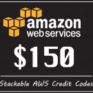 Amazon Credit Code $150 Aws Promo Code Q2 RDS EC2 SQS New Event Web Services Codes For Sale
