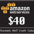 AWS $40 Promo Credit Coupon Code EC2 Educate