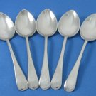 Wear Wite Sheffield Demitasse Spoon Moke Tea Coffee Vintage Nickle Silver Plate 5 England