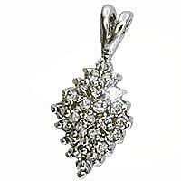 CZ diamond cluster pendant