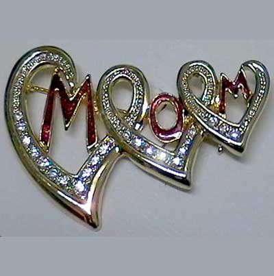 Special mother's crystal pin
