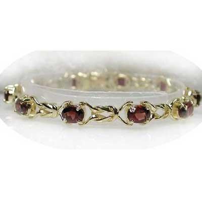 8.5 carat genuine garnet twist tennis bracelet