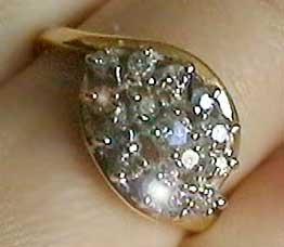 0.5 carat genuine diamond solid gold ring