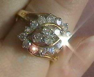 1 carat genuine diamond gold ring