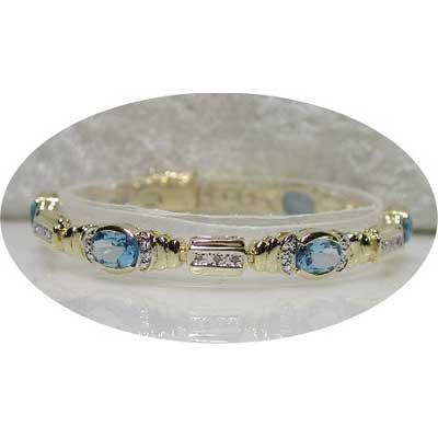 Designer 9.61 carats TOPAZ & DIAMOND tennis bracelet