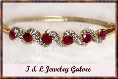 3.2ctw GENUINE RUBY gold bangle