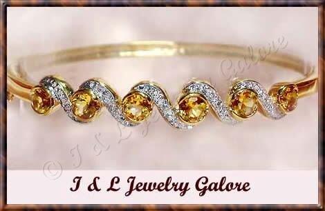 3.2ctw GENUINE CITRINE gold bangle