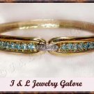 2.52 ctw Genuine TOPAZ & DIAMOND gold bangle