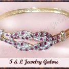 Designer Genuine RUBY & DIAMOND gold bangle