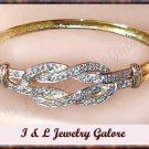 Designer Blue TOPAZ & DIAMOND gold bangle