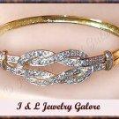 Designer Blue TOPAZ & DIAMOND gold bangle