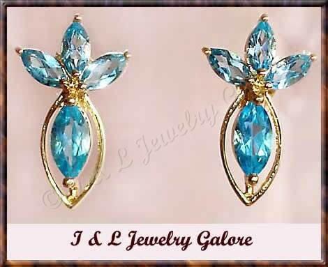3.15ctw genuine TOPAZ gold earrings