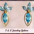 3.15ctw genuine TOPAZ gold earrings