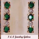 2.03 carat Agate & Diamond earrings