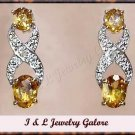 2.00 carat Citrine & Diamond earrings