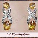 2.00 carat Citrine & Diamond earrings