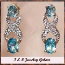 2.5 ctw Topaz & Diamond earrings
