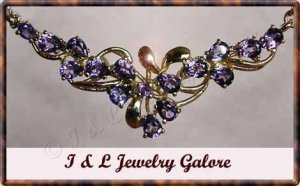 2 ctw genuine AMETHYST gold necklace
