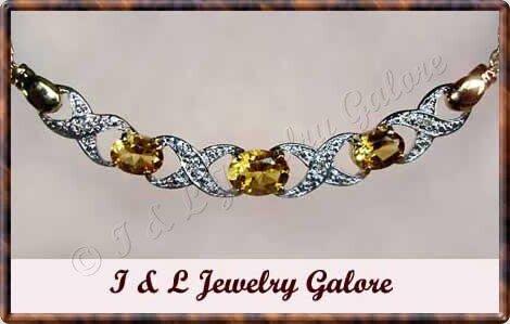 2.5 ctw genuine Citrine & Diamond necklace