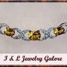 2.5 ctw genuine Citrine & Diamond necklace