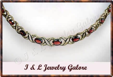 5.8 carat genuine GARNET gold necklace