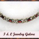 5.8 carat genuine GARNET gold necklace