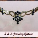 Unique genuine SAPPHIRE designer style gold necklace