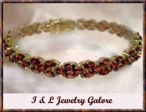 Amazing *15.80 carat* genuine garnet tennis bracelet