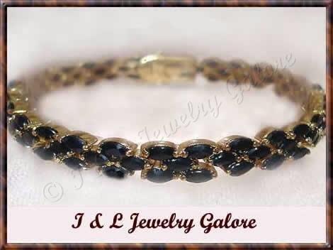 Amazing *18.20 carat* genuine sapphire tennis bracelet
