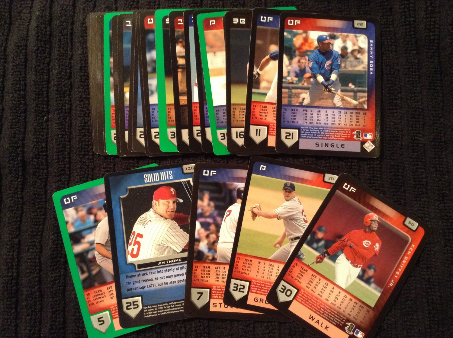 Lot of 5 - 2003 Upper Deck Victory Cards