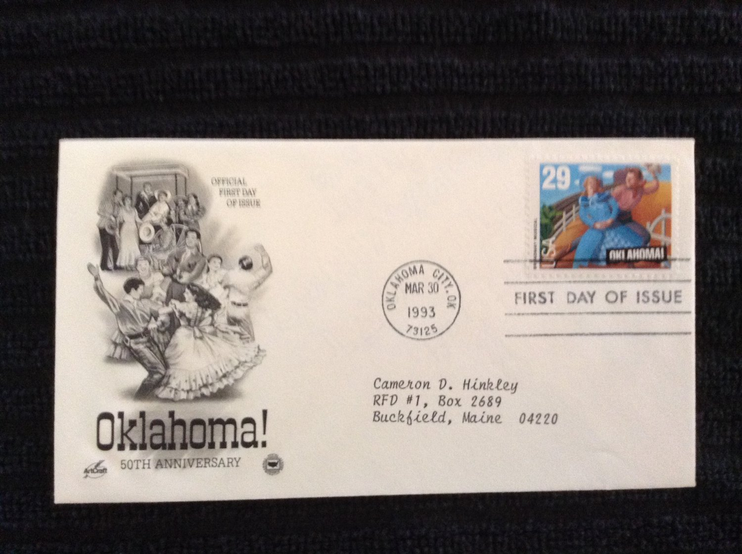 First Day of Issue Cover - Oklahoma (1993)