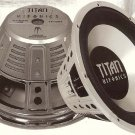 "Titan Single 4 Ohm Voice Coil Subwoofers 12"" 600 Watts MAX"