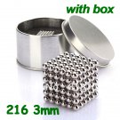 216 x 3mm Buckyballs Magic Magnet Magnetic DIY Balls Sphere Neodymium Cube Neocube Puzzle Toy