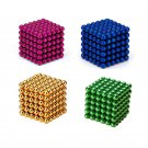 216PCS 3mm Magnetic Ball Magnet With Box Colorful Intelligent Toy Gift - Random color