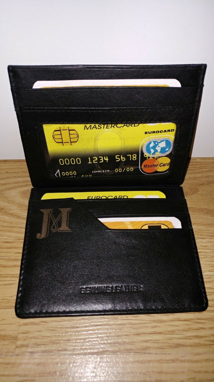 Personalized Customized Handmade Laser Engraved Leather Wallet Slim Credit Card Holder Men Gift