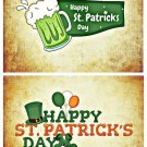 Set 2pcs St. Patrick Handmade Photo Magnet Fridge Decor Craft Gift Card 4x3