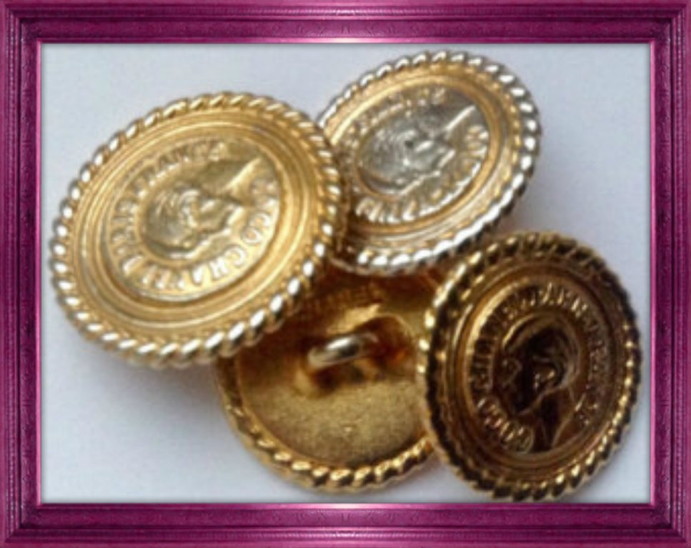 Gold Chanel Buttons