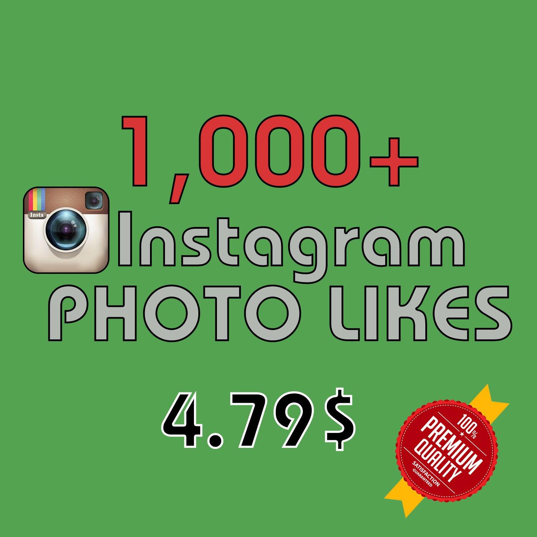1,000 HQ Instagram Photo Likes FAST