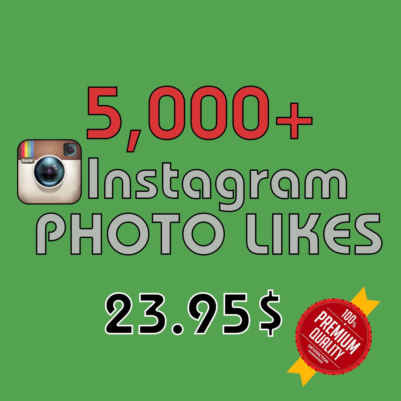 5,000 HQ Instagram Photo Likes