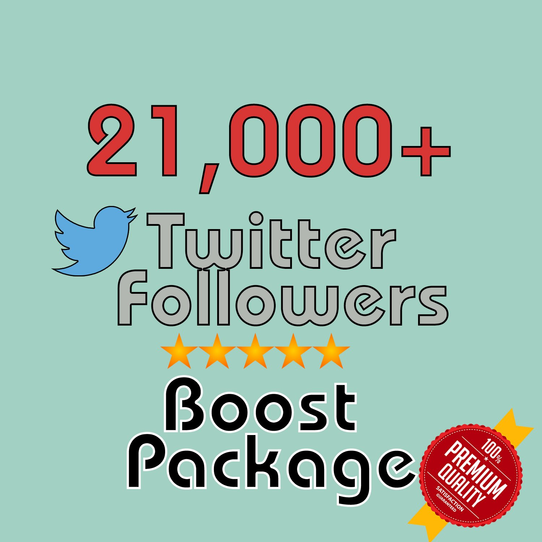 21,000 HQ permanent twitter followers