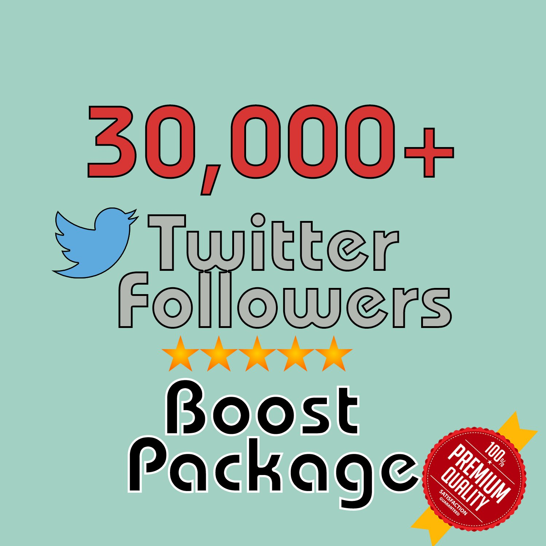 30,000 HQ permanent twitter followers