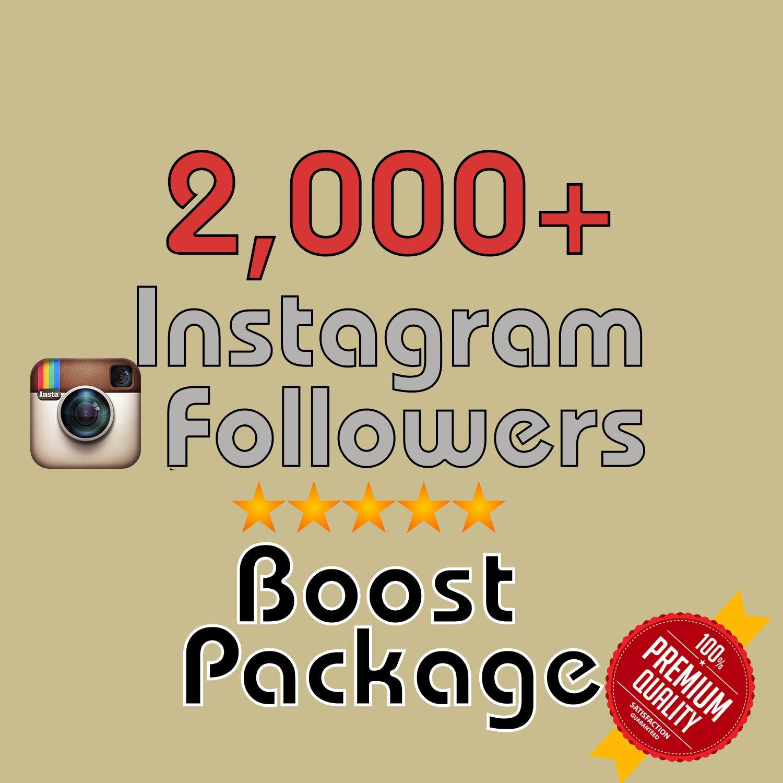 2,000 HQ Instagram Followers in 72 HOURS