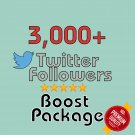 3,000 HQ permanent twitter followers