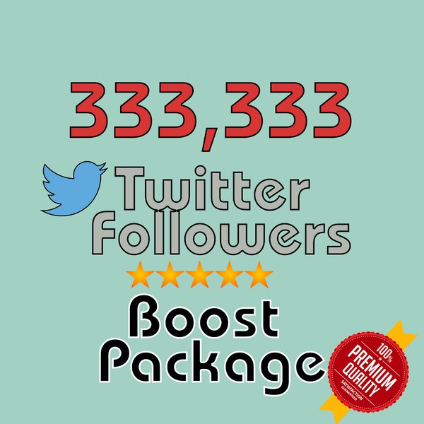 333333 permanent twitter followers