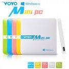 VOYO Mini PC Windows 8.1 Intel Z3735F 2G RAM 64G ROM WIFI Bluetooth 1000mAh Battery - White