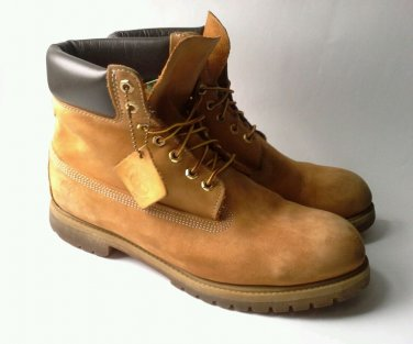 "TIMBERLAND Boots 10061 Men's 12M Classic Wheat Premium Leather 6"" Field Gum Sole"