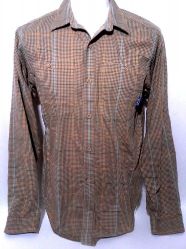 Patagonia Shirt Men's Size S Organic Cotton Button Front Long Sleeve Plaid EUC