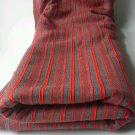 1 Yard Square Red Stripe Gray Stripe Fabric Cotton Hemp? Canvas? Upholstery Sew